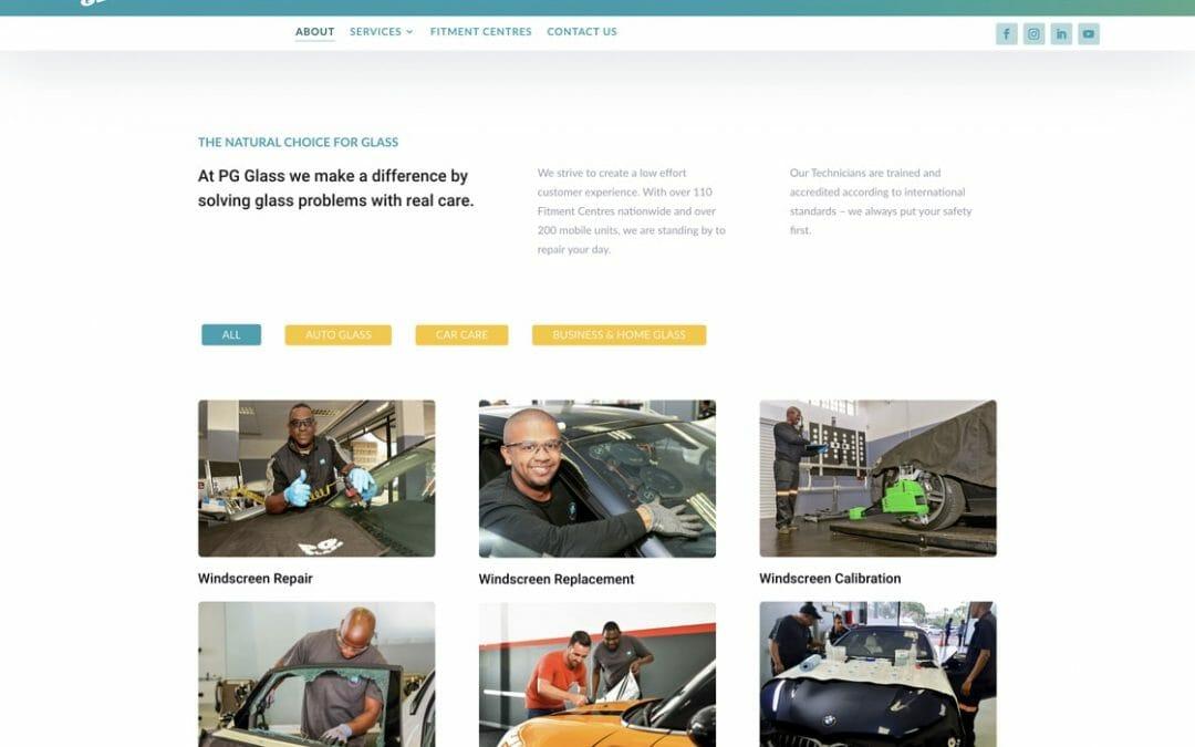 PG Glass website