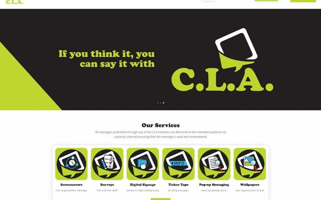 Corporate Voice CLA website