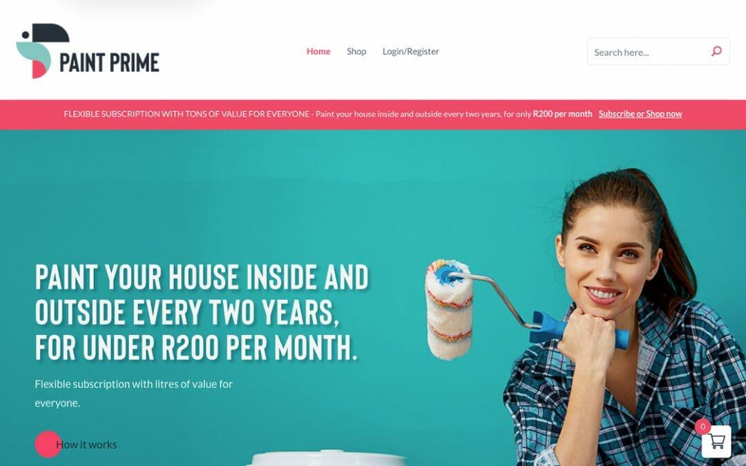 Paint Prime Website